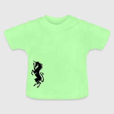 enhörning / unicorn (1c) - Baby-T-shirt