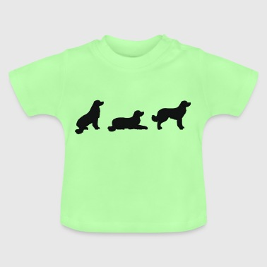 sit down stay hovawart vektor S - Baby-T-shirt