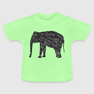 Elefant als Illustration - Baby T-Shirt