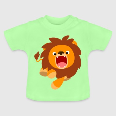 Cute Frisky Cartoon Lion by Cheerful Madness!! - Baby T-Shirt