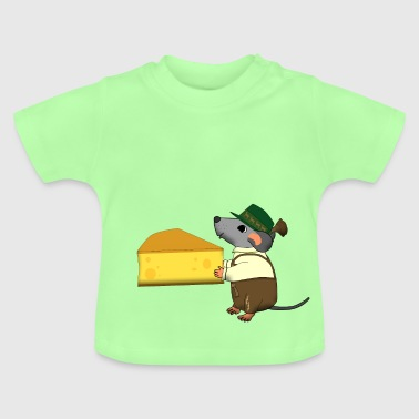 bavarian mouse with cheese - Baby-T-shirt