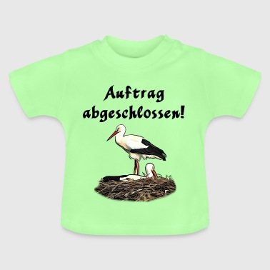 Klapperstorch Baby Geburt - Baby T-Shirt
