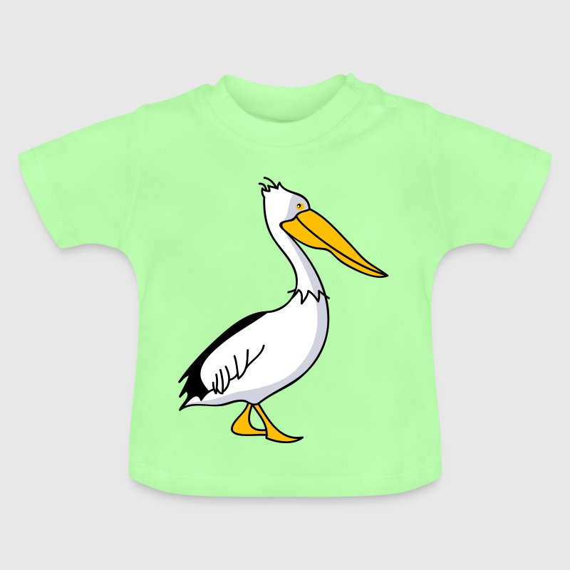 Funny pelican - Baby T-Shirt