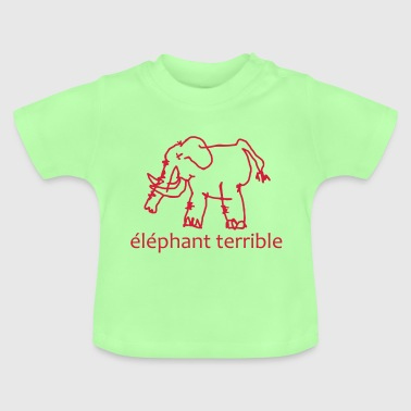 Éléphant Terrible - Baby T-Shirt