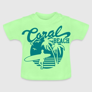 Coral Beach Surfers Heaven - T-shirt Bébé