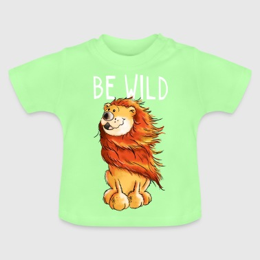 Löwe Kind Wilder Löwe - Wild - Tier - Tiere - Comic - Baby T-Shirt