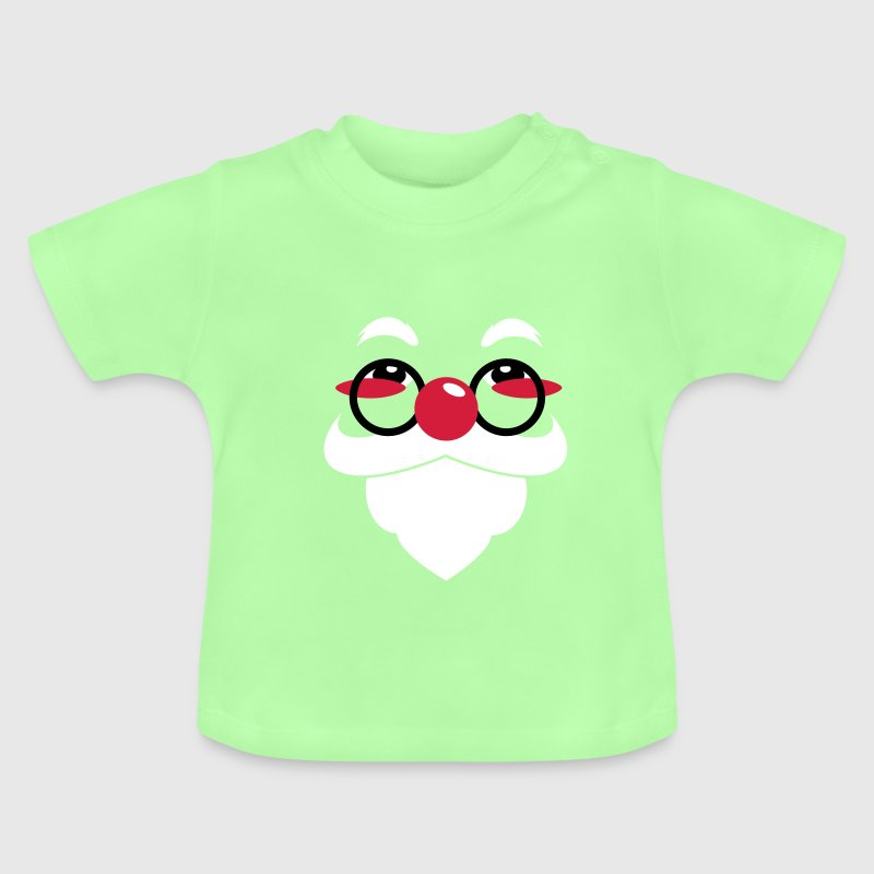 Santa Claus face with glasses and beard - Camiseta bebé