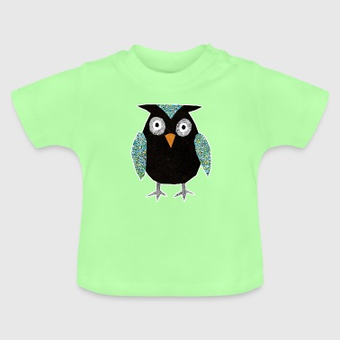 Collage mosaic owl - Baby T-Shirt