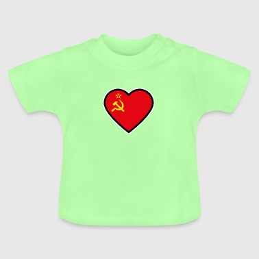 sowjetunion flagge herz - Baby T-Shirt