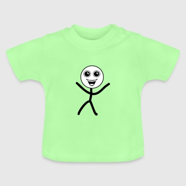 Happy smiley, stick figure - Baby T-Shirt