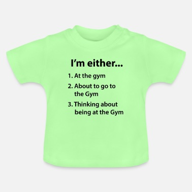 Groet Bodybuilding Fitness Workout Gym grappig cadeau - Baby T-shirt