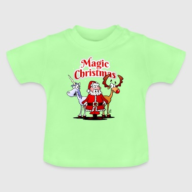 Funny Unicorn Magic Christmas unicorn - Baby T-Shirt