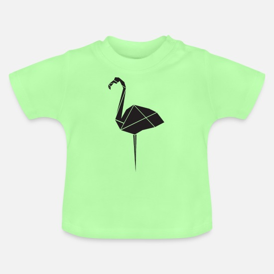 Birthday Baby Clothes - Vector flamingo - Baby T-Shirt mint green