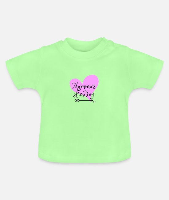 Mother Baby Clothes - Mom's darling - Baby T-Shirt mint green