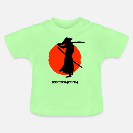 Proud Baby Clothes - Samurai Warrior Recognition - Baby T-Shirt mint green