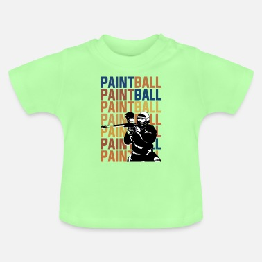 Paintball PAINTBALL PAINTBALL PAINTBALL - Baby T-shirt