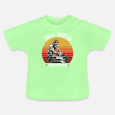 Printhoved Lokal printer retro - Baby T-shirt