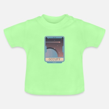 Occupy Occupy Mars - Planet Illustration - Baby T-shirt