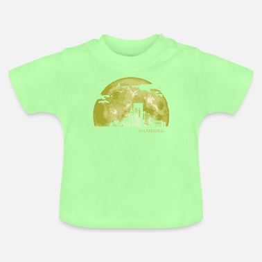 Byggnad HAMBURG Moon Light Night Stars Skyline - T-shirt baby