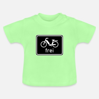 50 Cm³ Bicycle path - moped free sign, 25 km / h, 50cc - Baby T-Shirt