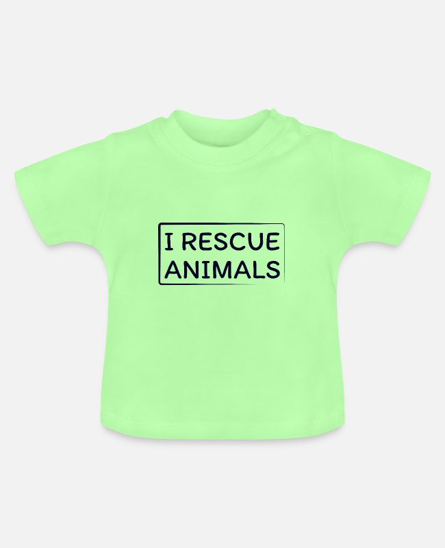 Europe Baby T-Shirts - I Rescue Animals - Baby T-Shirt mint green