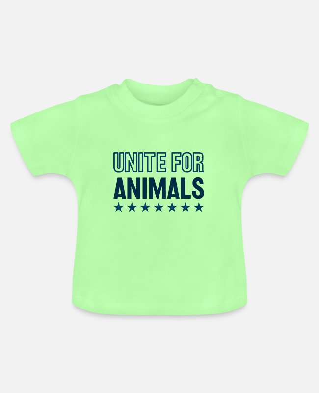 Europe Baby T-Shirts - Unite For Animals! - Baby T-Shirt mint green