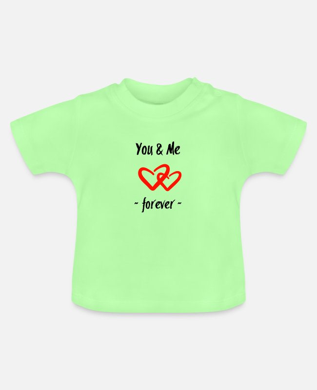 Heart Baby T-Shirts - You & Me v2 - Baby T-Shirt mint green