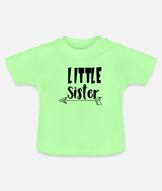 Little Sister Baby Clothes - Little sister - Baby T-Shirt mint green