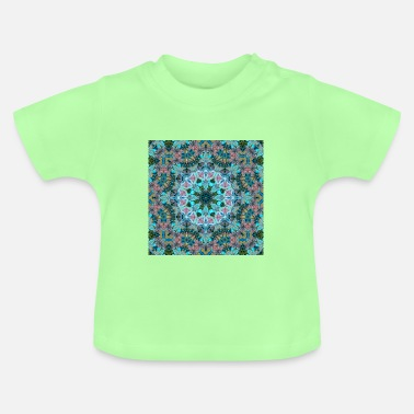 Fashion KALEIDOSCOPE ABSTRACT LILIES 2 FLOWERS 2 - Baby T-Shirt