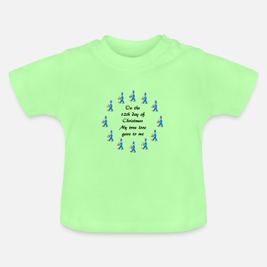 12th Day of Christmas drummers - Baby T-Shirt
