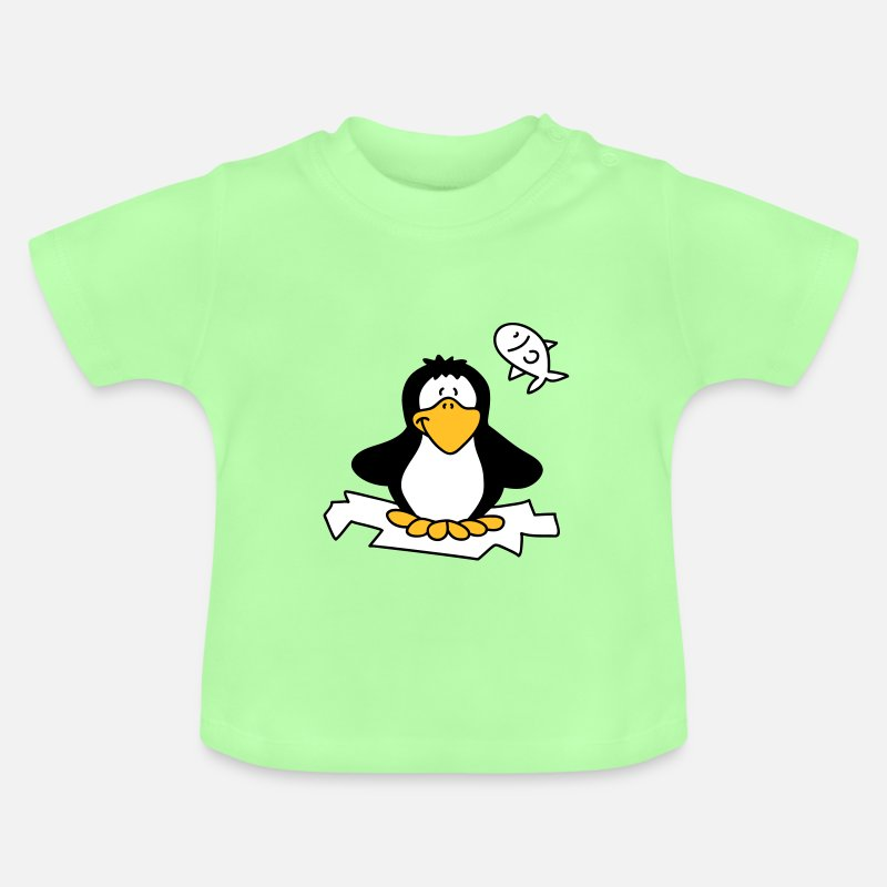 Bestsellers Q4 2018 Baby Clothing - Fat little penguin - Baby T-Shirt mint green