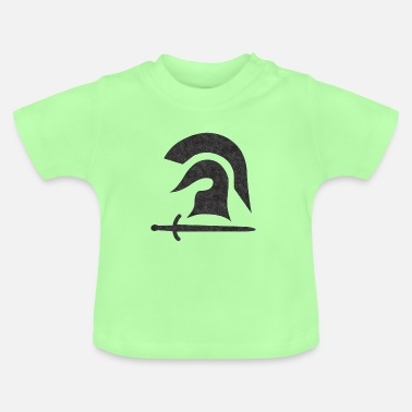 Warrior, helmet, sword - Baby T-Shirt