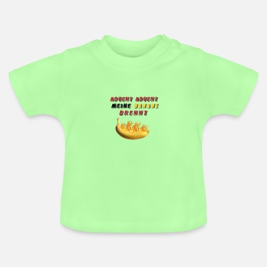 Advent Advent Advent mijn banaan staat in brand - Baby T-shirt