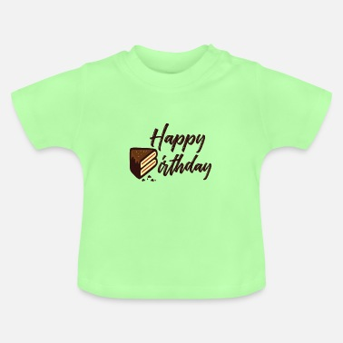 Birthday Happy Birthday Cake - Baby T-Shirt