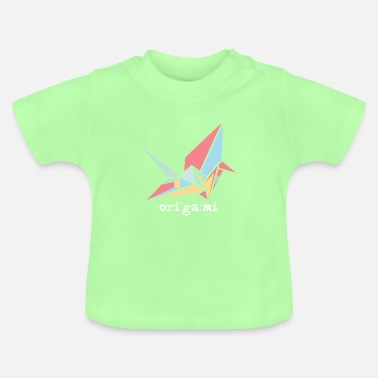 Bird Colorful origami pastel bird - Baby T-Shirt