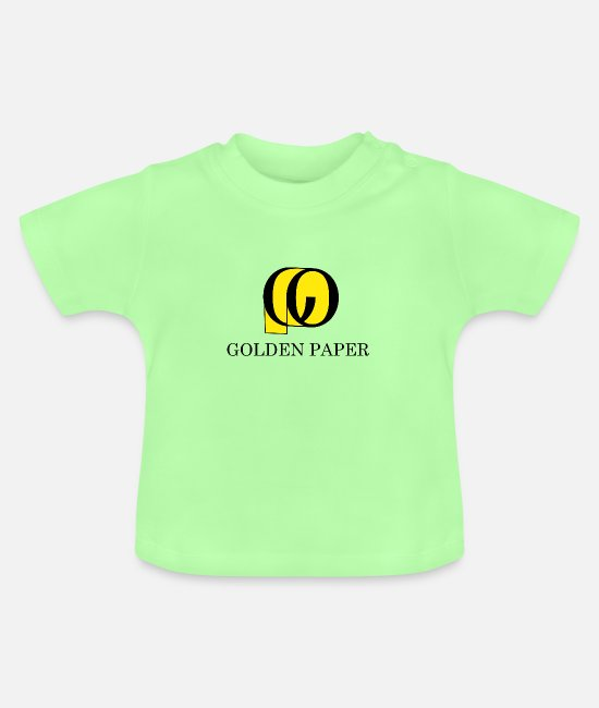 Gold Baby Clothes - Golden paper - Baby T-Shirt mint green