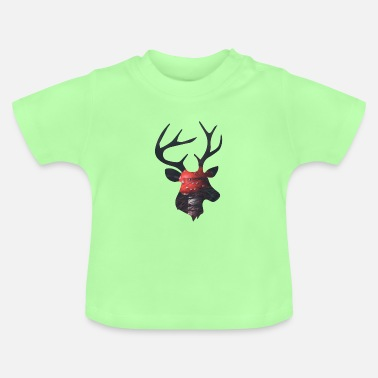 Funges Deer and Red Mushroom - Baby T-Shirt