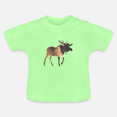 Funges Moose and Mushroom - Baby T-Shirt