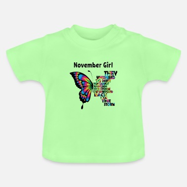 Happy Birthday Novembre fille née anniversaire - T-shirt Bébé
