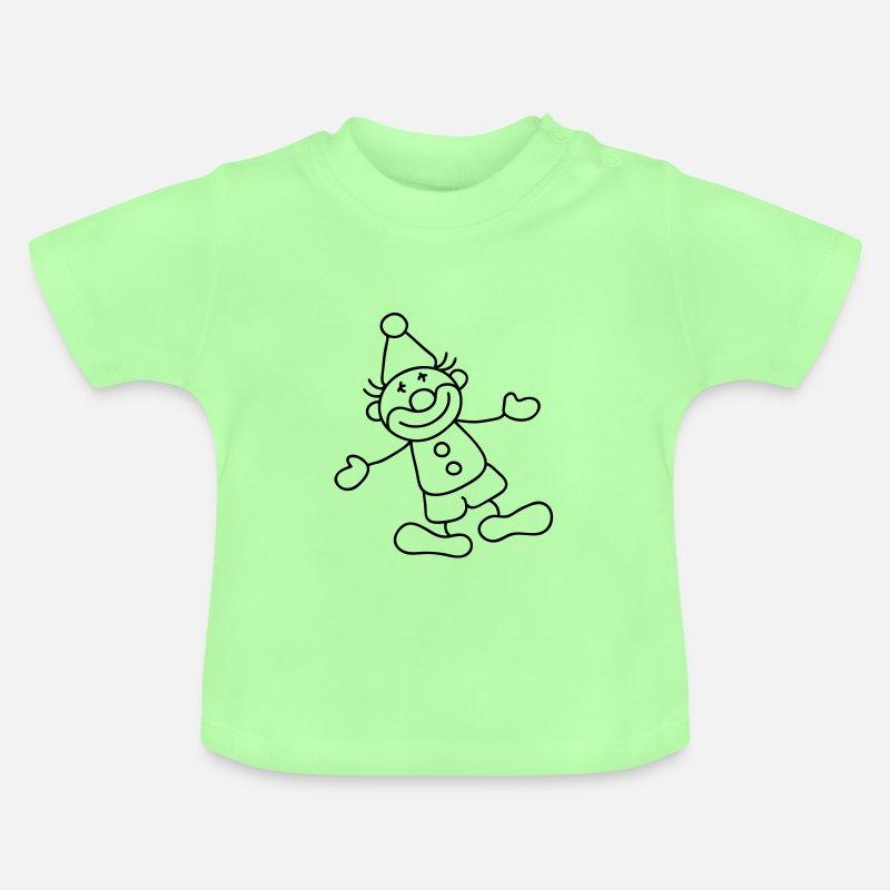 bda3e8aa1 Mint green Sweet Little clown Baby Shirts Baby T-Shirt