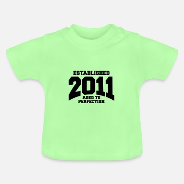 Established aged to perfection established 2011 (sv) - Baby-T-shirt