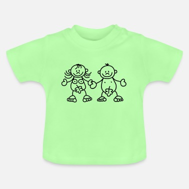Adam Adam and Eve with a fig leaf - Baby T-Shirt