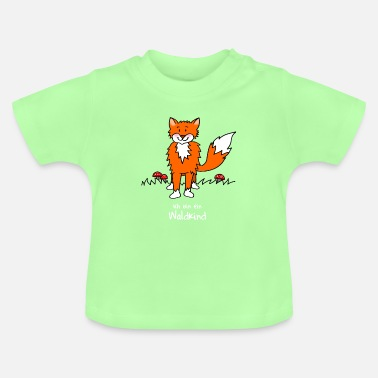 Kindergarten Naughty fox for forest kindergarten - Baby T-Shirt