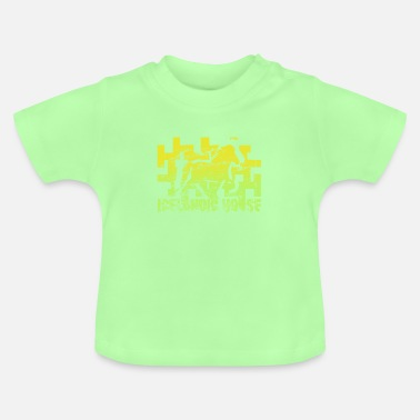Jument Cheval islandais: Cheval islandais Poney Merch - T-shirt Bébé