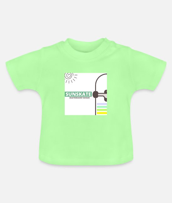 Sk8 Baby Clothes - SUNSKATE - Baby T-Shirt mint green