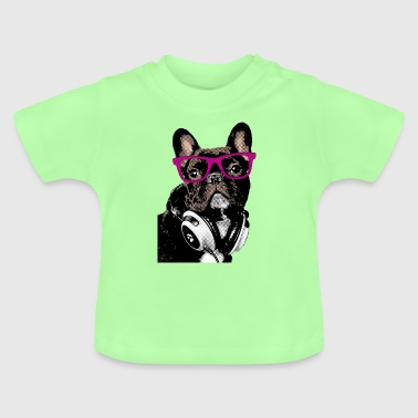 Bulldog AD Hipster Frenchie - T-shirt Bébé