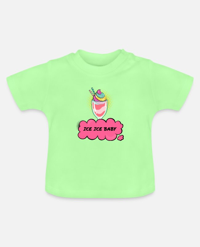 Pop Art Baby T-Shirts - ice-ice baby - Baby T-Shirt mint green