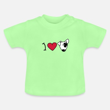 Bull I love dogs - Baby T-shirt