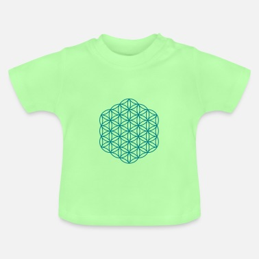 New Age Flower of Life - Hexagon - Baby T-Shirt