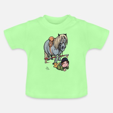 Officialbrands Thelwell Funny Showjumping Gone Wrong - Baby T-Shirt